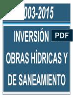Inversion en obras hídricas y de saneamiento 2003 - 2015