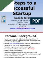 7-Step to a Successful Startup ZAFAR (Berkeley)