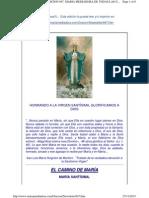 EL CAMINO de MARIA. Newsletter947.Maria Santisima, Mediadora de Todas Las Gracias
