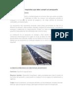Elementos y Requisitos Que Debe Cumplir Un Aeropuerto