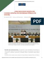 26-11-15 Encabezó Claudia Pavlovich sesión del Consejo Estatal de Seguridad Pública de Sonora - El Observador