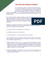 División Histórica Del Derecho Romano