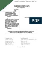 Obama Non-Deportation Policy Case — Crane v Napolitano - Plaintiffs Supplemental Brief in Support of Motion for Preliminary Injunction