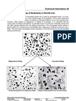 Fading of Nodularity in Ductile Iron