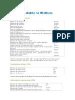 BenchmarkingDemografía Distrito de Miraflores y San Isidro
