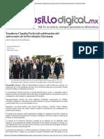 17-11-15 Encabeza Claudia Pavlovich celebración del aniversario de la Revolución Mexicana - Hermosillo Digital