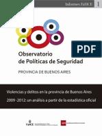 Análisis de crímenes 2009-2012