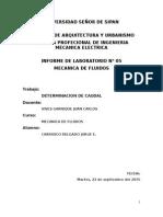 DETERMINACION DE CAUDAL