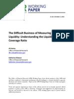 Measuring Banks' Liquidity, Oct. 2015