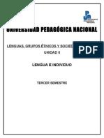 Lenguas Grupos Etnicos y Sociedad Nacional