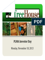 THS Treehouse Foods 2013 Investor Day Presentation