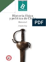 Historia de Chile, de Claudio Gay, Tomo I