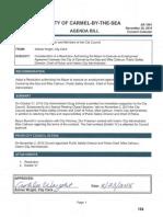 Employment Agreement Interim City Administrator Calhoun11!30!15
