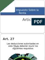 Requisitos de Las Deducciones-Art 27 ISR