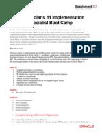 Solaris 11 Implementation Bootcamp Datasheet