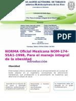 NOM  174 para el manejo integral de la obesidada