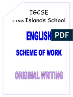 Year 10 IGCSE Original-Writing