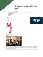 Guía Práctica Para Hacer Un Focus Group Exitoso