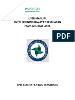 User Manual Entri Skrining Riwayat Kesehatan 2015