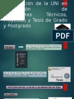 Participación de La UNI en Elaboración de TESIS , PROYECTOS