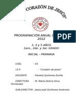Programcion de Ingles Para Primaria