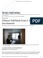 Chinese Pull Back From U.S