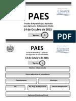 Paes 2015 14 Octubre Matematica Estudios Sociales