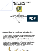 Introducción a la gestión de la Producción.