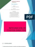Integracion de Costos Directos Costos