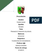 Planeacion y Desarrollo de Producto