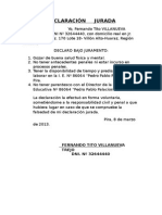 Certificado de Conducta y Informe de Recuperación