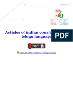 Articles of Indian Constitution in Telugu Language