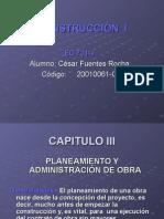 Capitulo3 - Planeamiento y Administracion de Obra