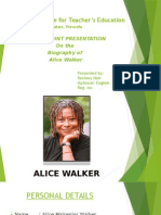 Biography of Alice Walker
