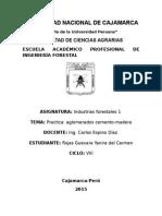 Informe de Tablero Aglomerados de Cemento Madera