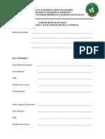 Formulir Pendaftaran Lkti Bioexpo Unja 2015