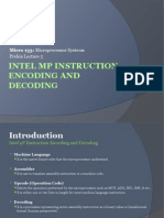 Micro 133 Prelim Lecture 5 - Intel ΜP Instruction Encoding and Decoding