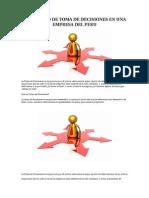 El Proceso de Toma de Decisiones en Una Empresa Del Peru