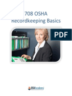 708 OSHA Recordkeeping Basics