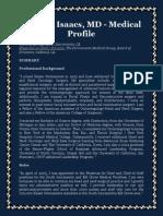 Richard Isaacs, MD - Medical Profile