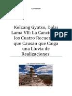 Kelzang Gyatso, Dalai Lama VII La Canción de Los Cuatro Recuerdos Que Causan Que Caiga Una Lluvia de Realizaciones.