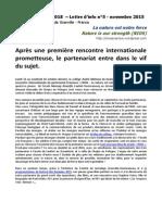Nios - Lettre d Info No5 - La Nature Est Notre Force - Erasmus 2015-2018
