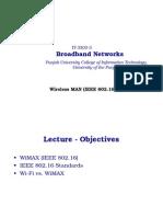 IEEE 802.16 (Wireless MAN)Cont