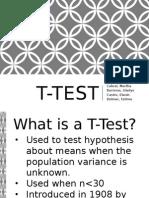 T-Test in Statistics