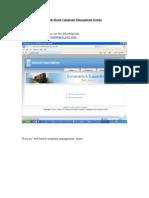 Web Complaint Management UserDoc