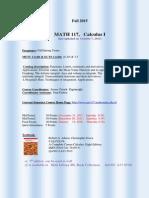 Math 117calculus i (2015 1) Syllabus