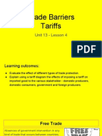 unit 13 - lesson 4 - tariffs
