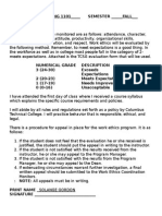 Work Ethics Evaluation Sheet