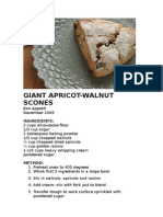 Giant Apricot Scone