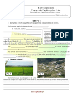 Teste Diagnóstico - Agricultura, Pecuária e Pesca